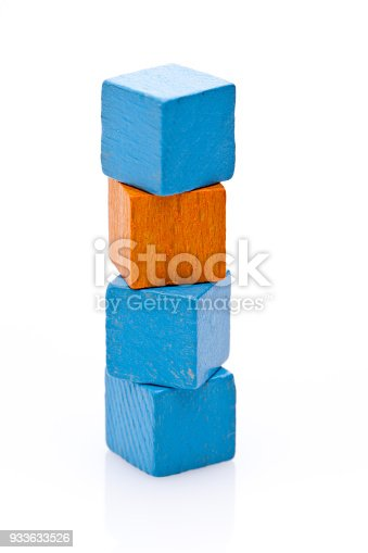 1134528355 istock photo Color contrast: Orange and blue cubes 933633526