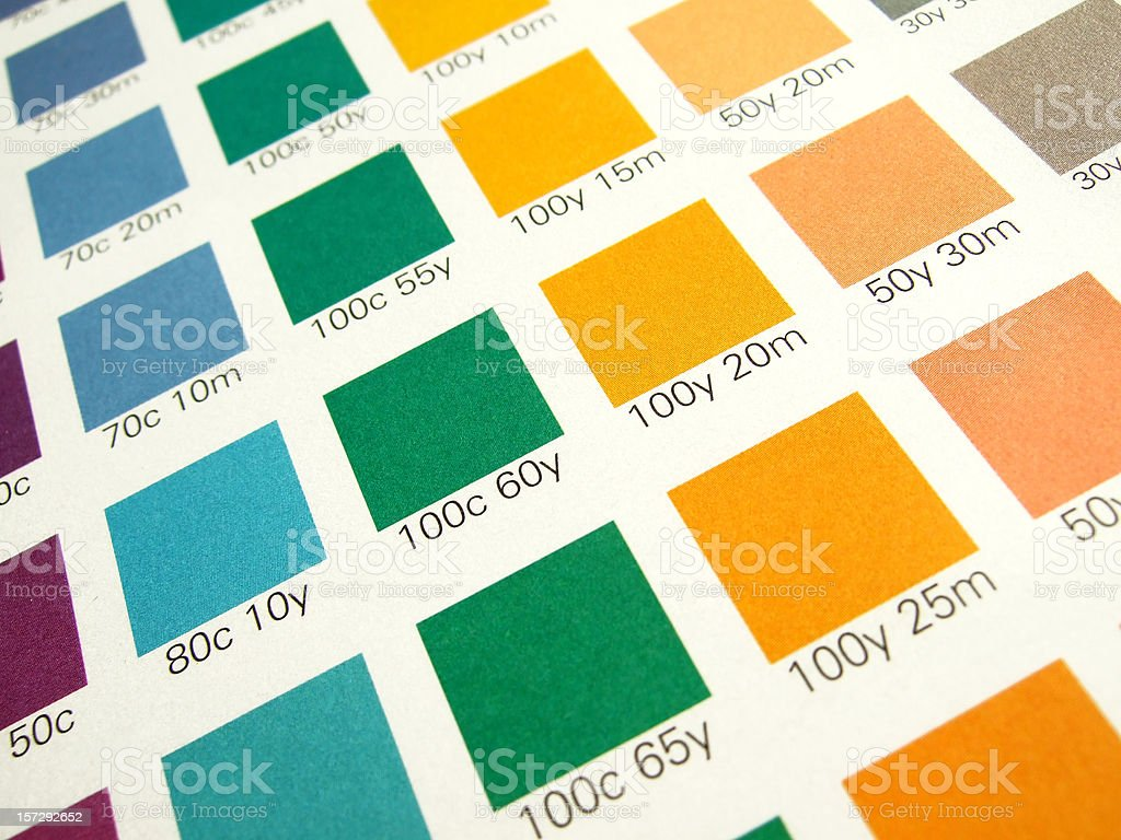 CMYK color control royalty-free stock photo