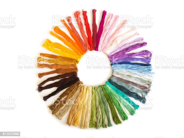Color cross stitch embroidery on white background colorful fabric of picture id812022890?b=1&k=6&m=812022890&s=612x612&h=hqgk8y5rllnebgamktctfa7b8wtyyfs2ufc7sfm9yr0=