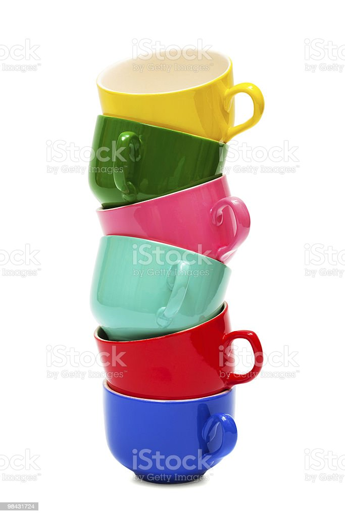 color cups royalty-free stock photo