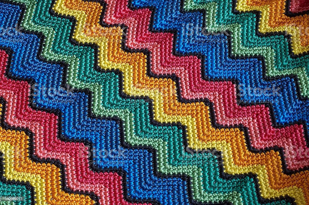 Color detail blankets stock photo