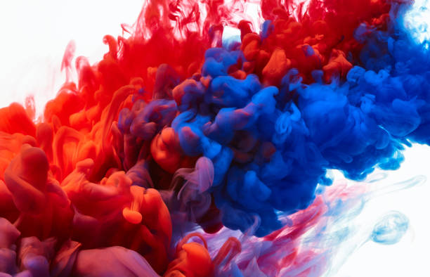 Color drop in water stock photo