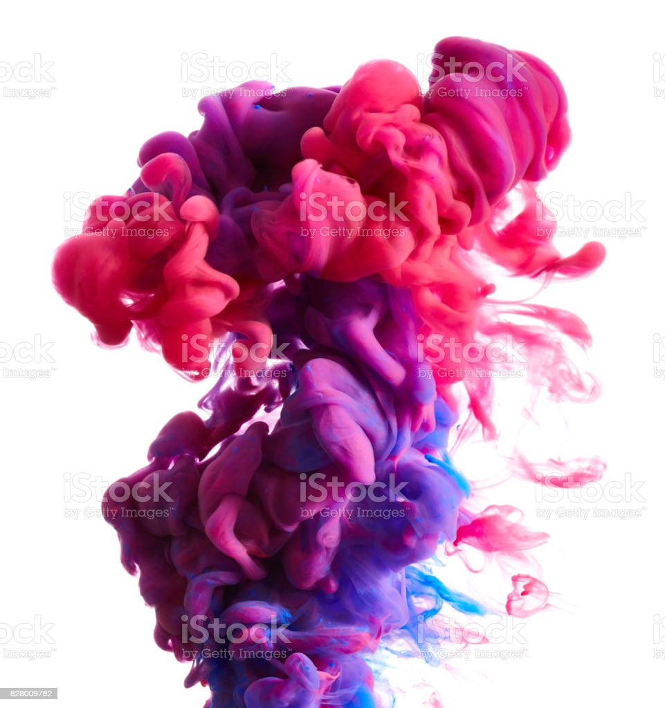 Color drop in water royalty-free stock photo
