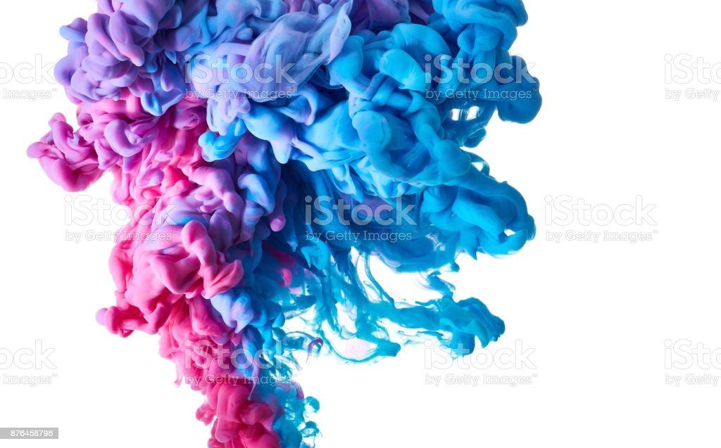 Farbtropfen im Wasser Lizenzfreies stock-foto