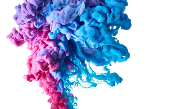 color drop in water - ink stock pictures, royalty-free photos & images