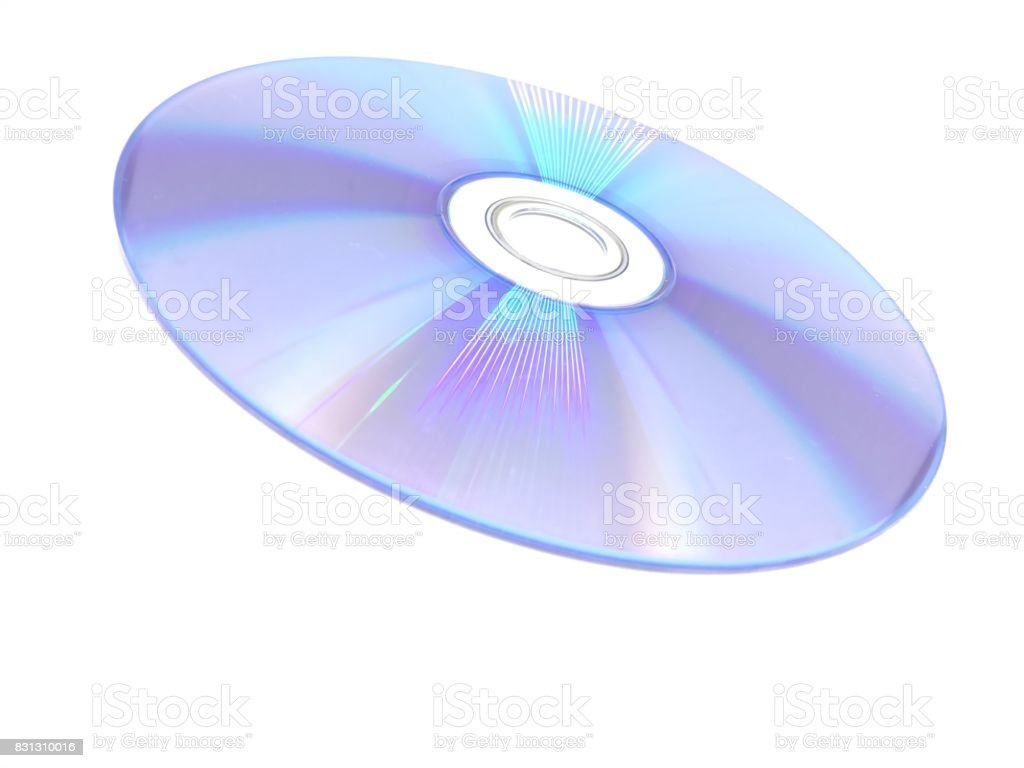 Color effect on CD stock photo