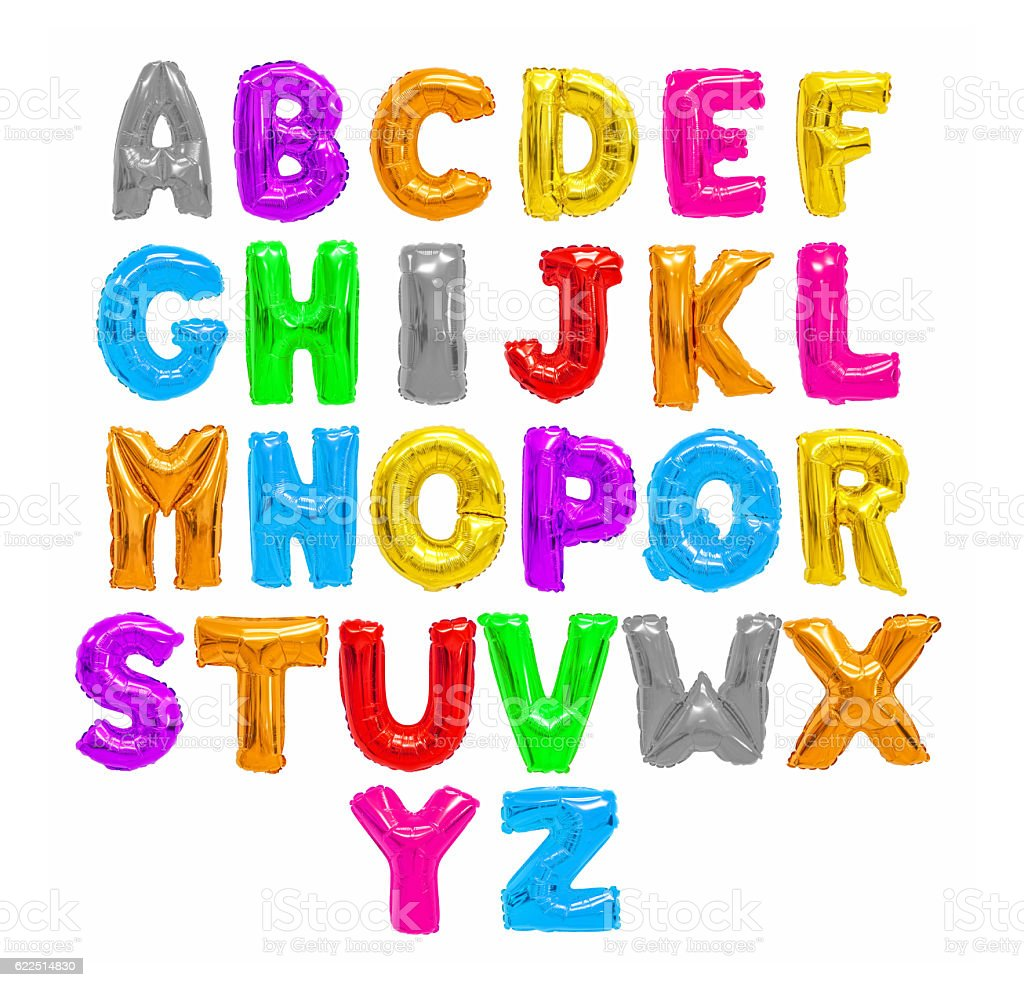 Color English alphabet bildbanksfoto