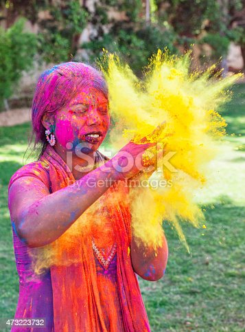 1131535585 istock photo Color Explosion at Holi Festival in India 473223732