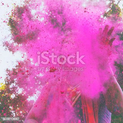 1131535585 istock photo Color Explosion at Holi Festival in India 503810692