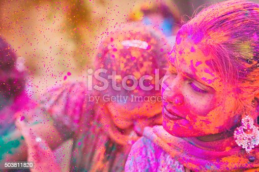 1131535585 istock photo Color Explosion at Holi Festival in India 503811820