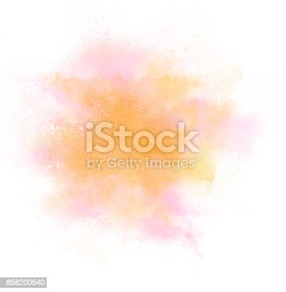 istock Color explosion on white background 858200540