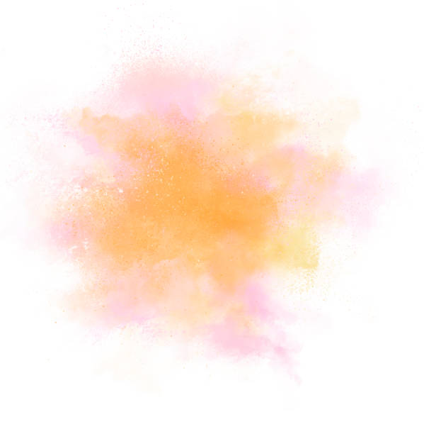 color explosion on white background - abstract multicolored powder explosion stock photos and pictures