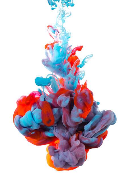 explosion de couleurs - encre photos et images de collection