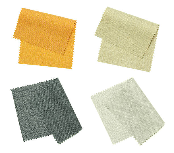 color fabric sample stock photo