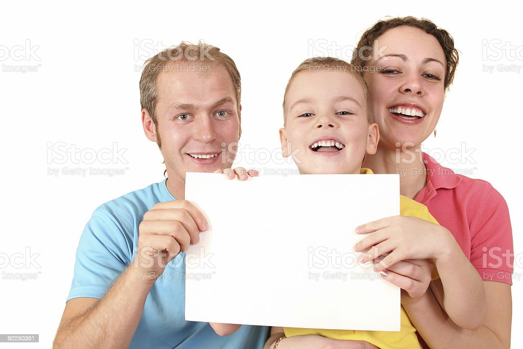 color family with card for text stock photo
