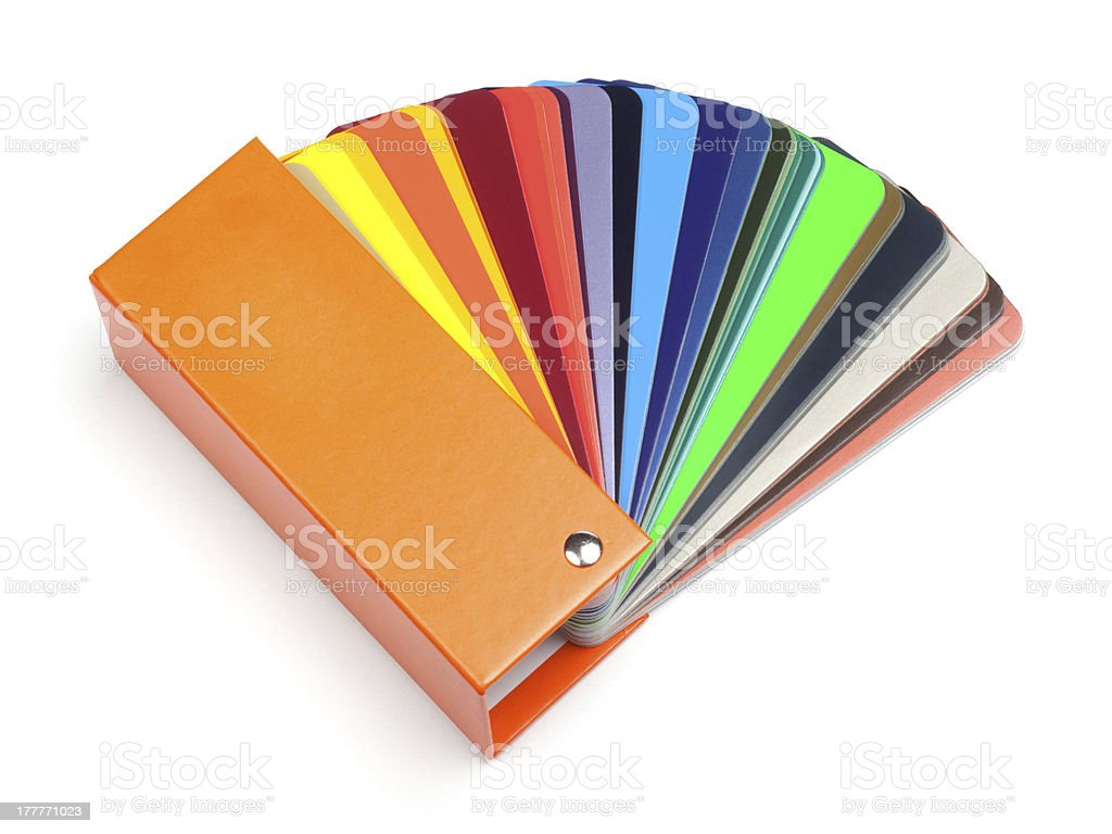 Color fan or swatch stock photo