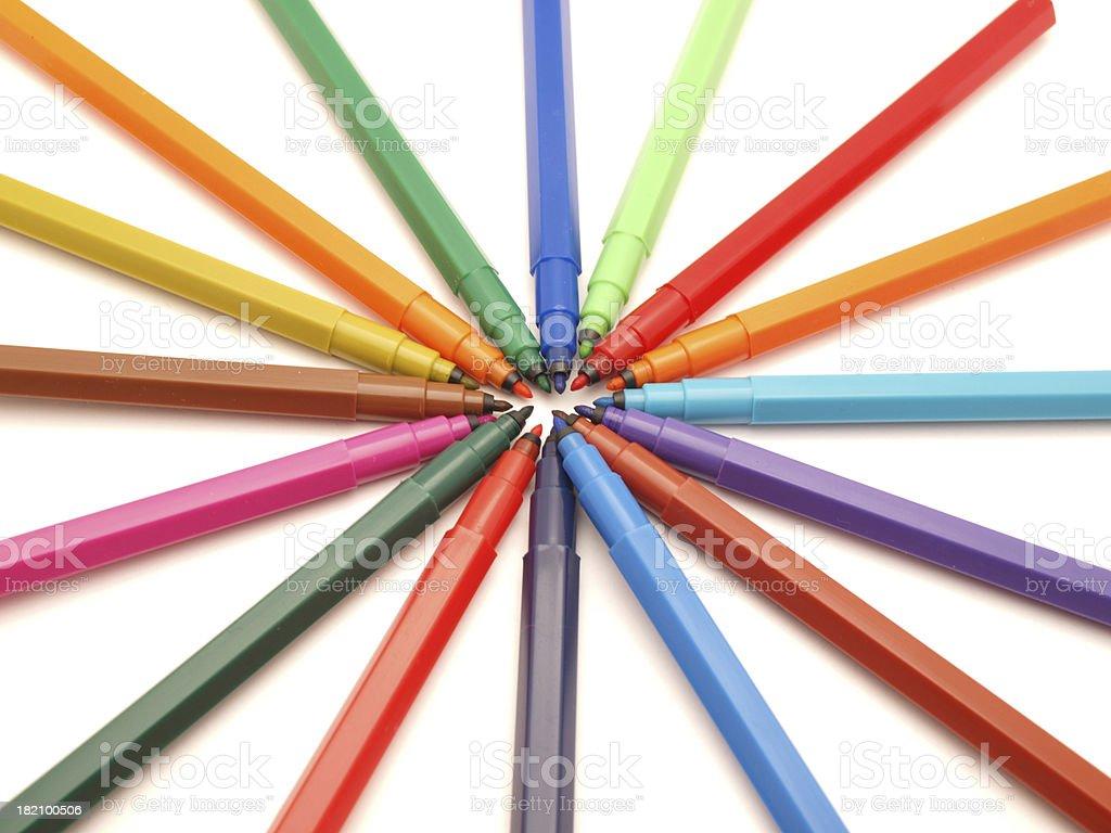Color felt-tip pens royalty-free stock photo