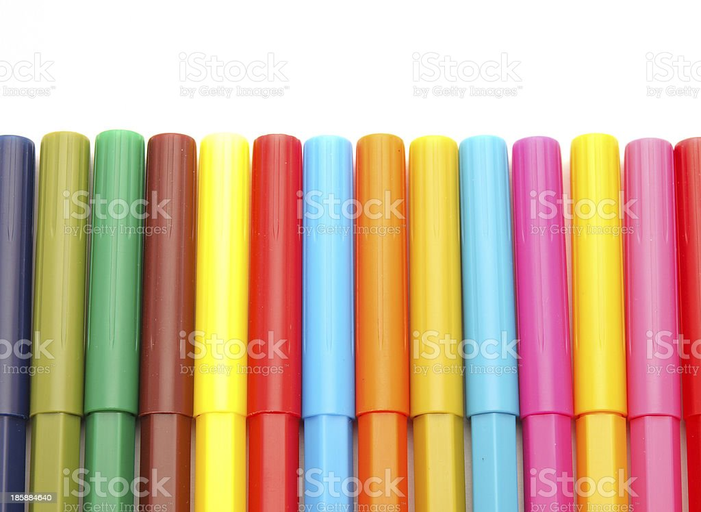 Color felt-tip pens royalty-free stock photo