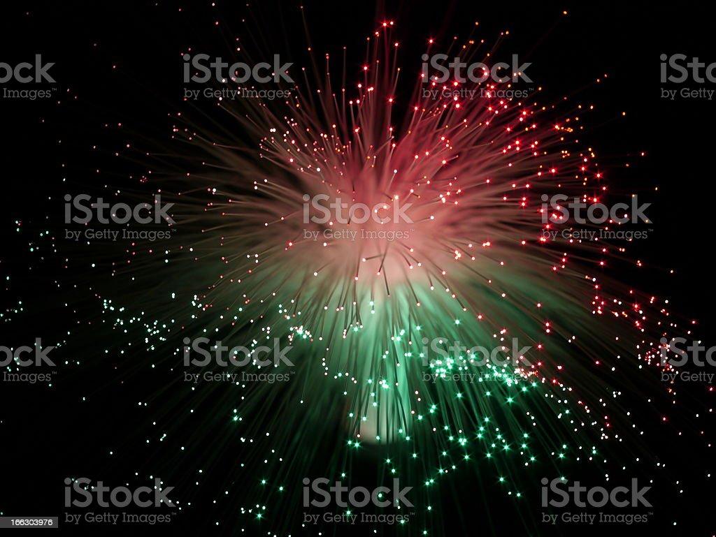 color fiber optic cables stock photo