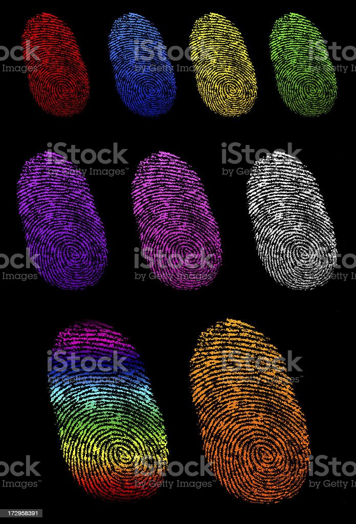 Color Finger Prints royalty-free stock photo