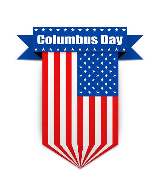 color flag on the columbus day. - columbus day stok fotoğraflar ve resimler