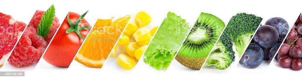 Farbe Früchten, Beeren und Gemüse – Foto