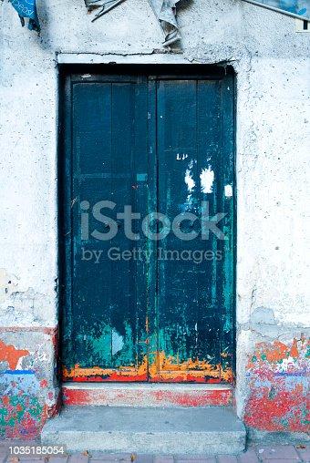 Color full door Latin American architecture.