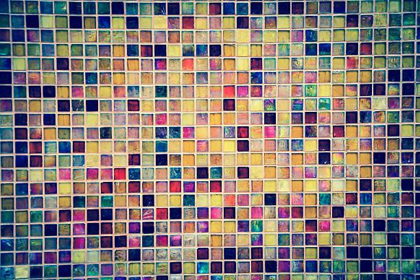 Farbe mit Mosaikfliesen – Foto