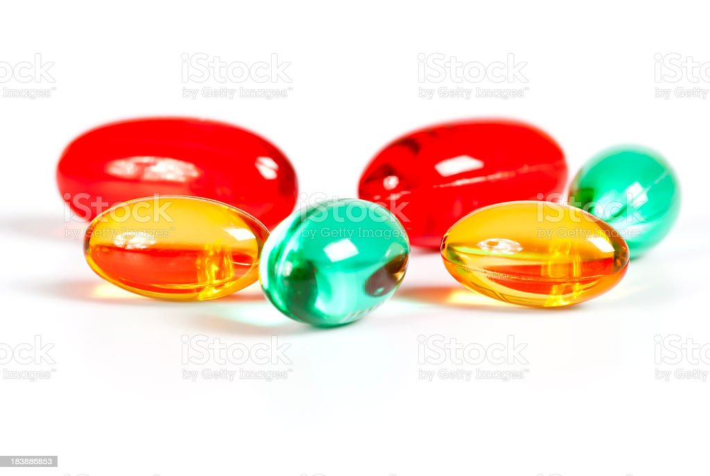 Color Gel caps royalty-free stock photo