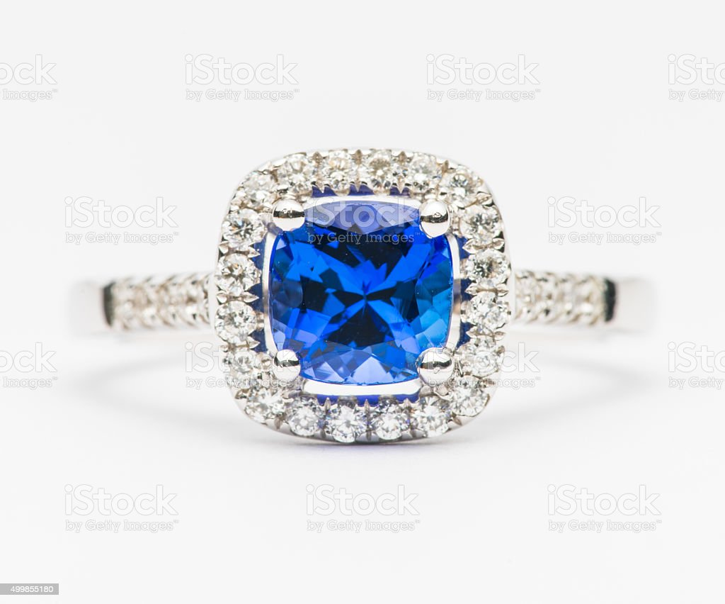 Color gem ring stock photo