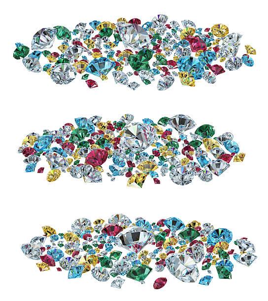 Farbe Perlen Isoliert – Foto