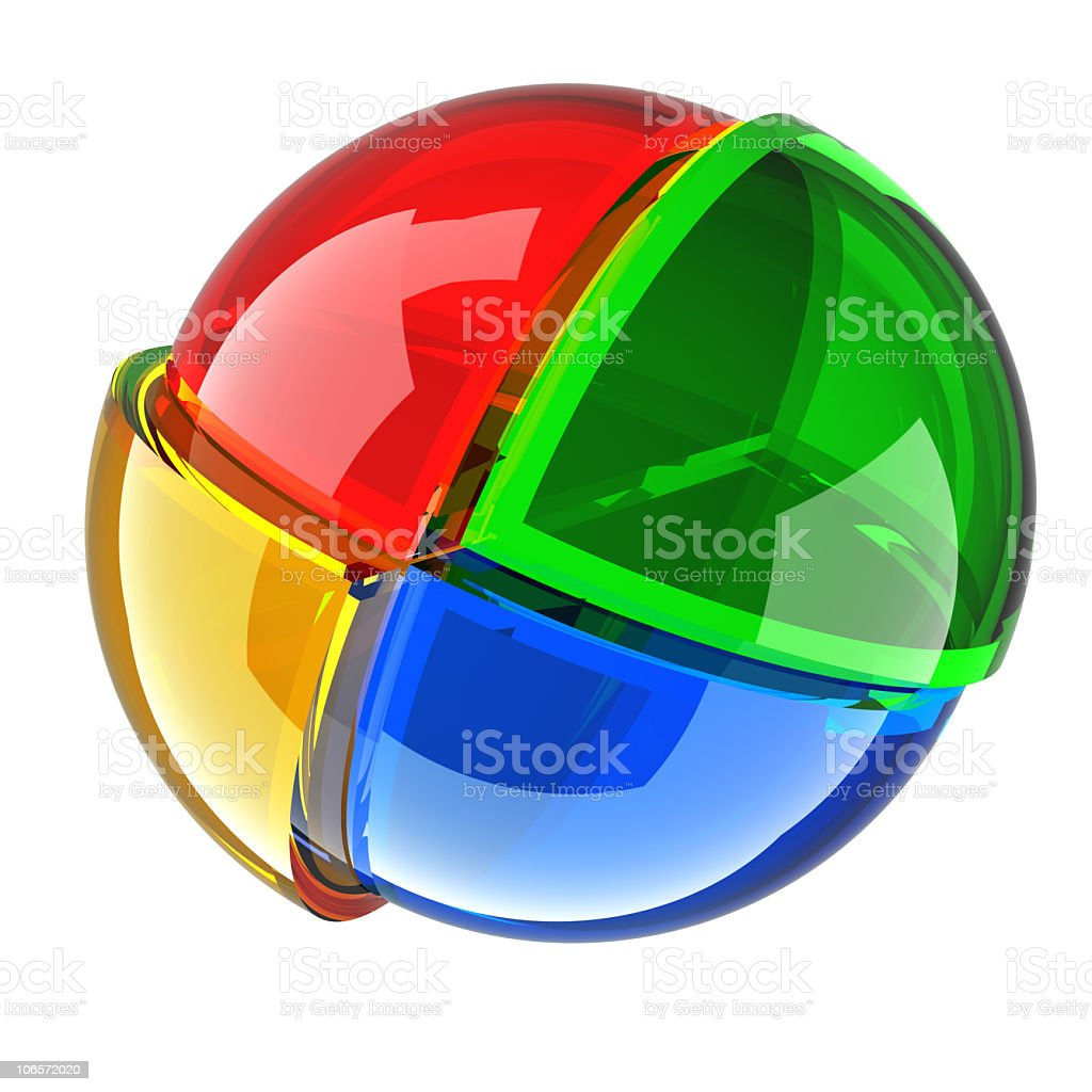 color glass ball royalty-free stock photo