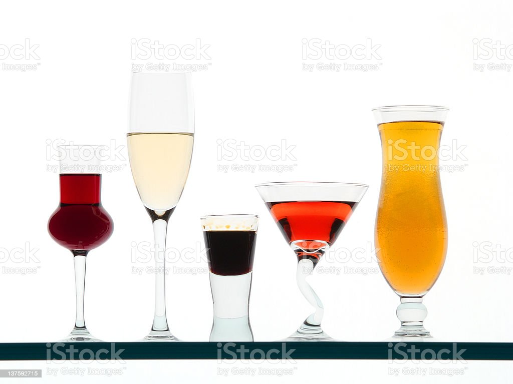Color glasses stock photo