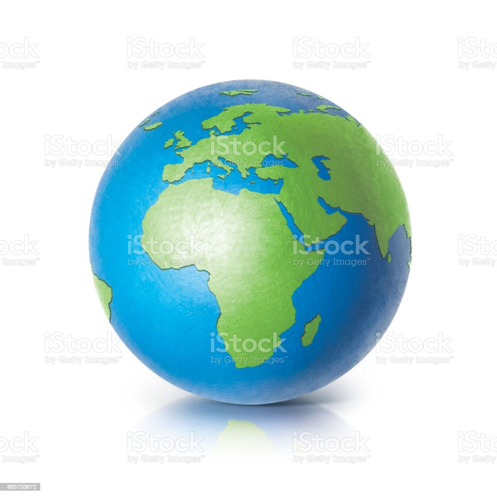 Color globe europe and africa map on white background stock photo color globe europe and africa map on white background royalty free stock photo gumiabroncs Choice Image