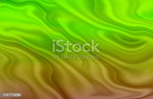 Color gradient waves silk background.