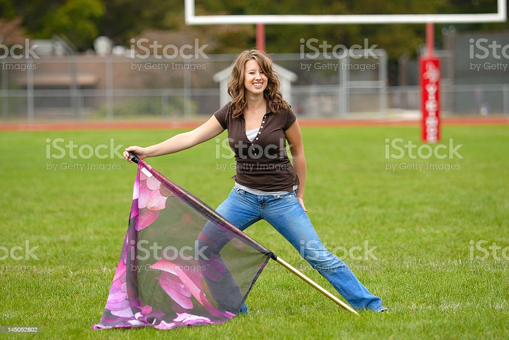 Color Guard Practice royalty-free stock photo
