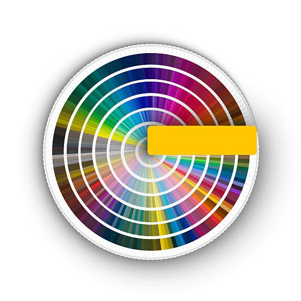 Color guide 360º (3D) stock photo