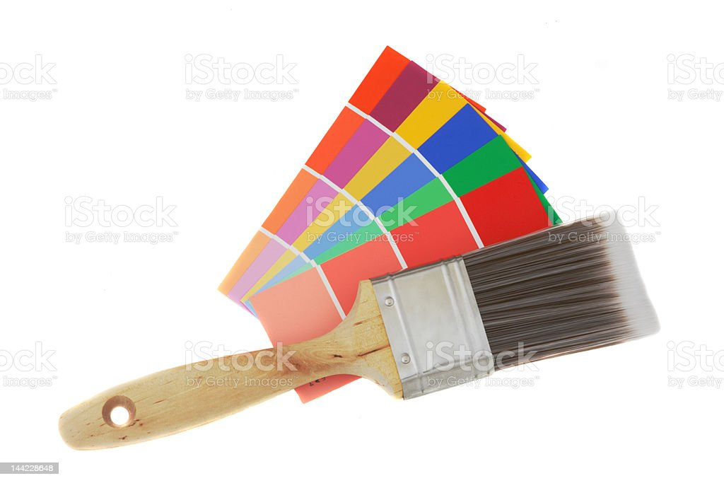 Color guide and brush 1 royalty-free stock photo