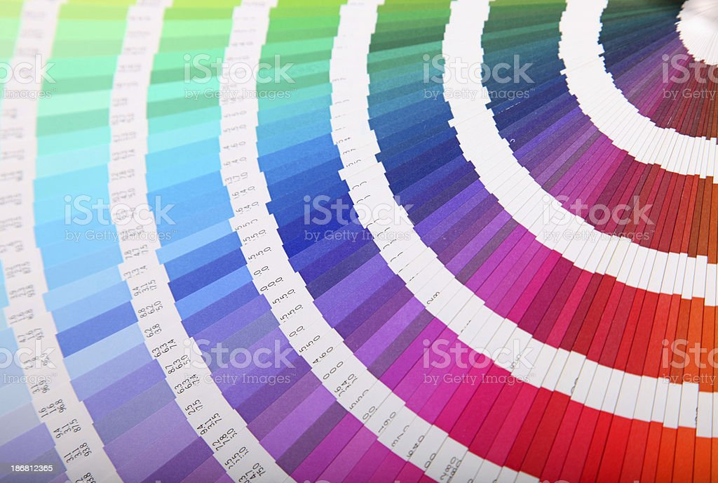 Color guide book royalty-free stock photo