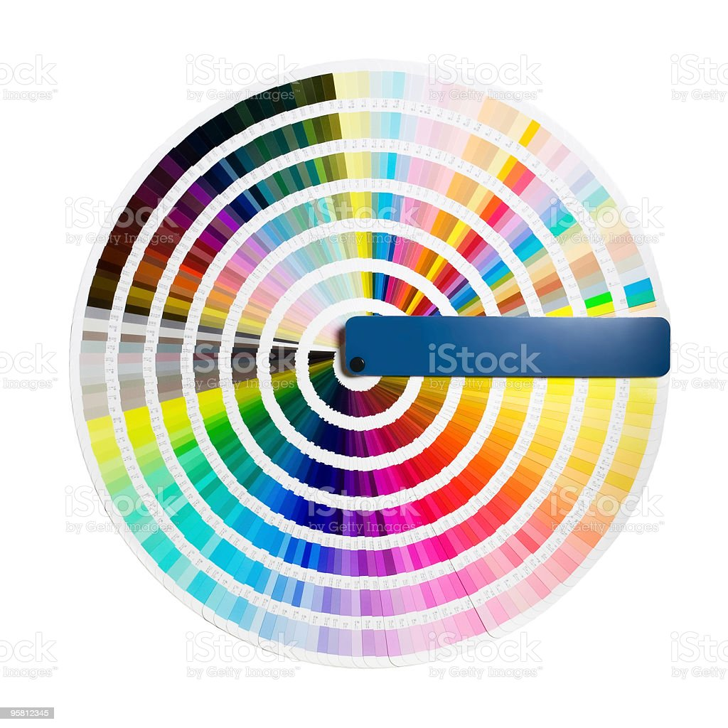 color guide circle stock photo