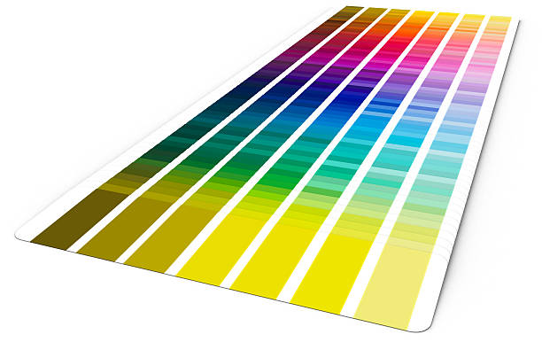 Color guide (3D) stock photo