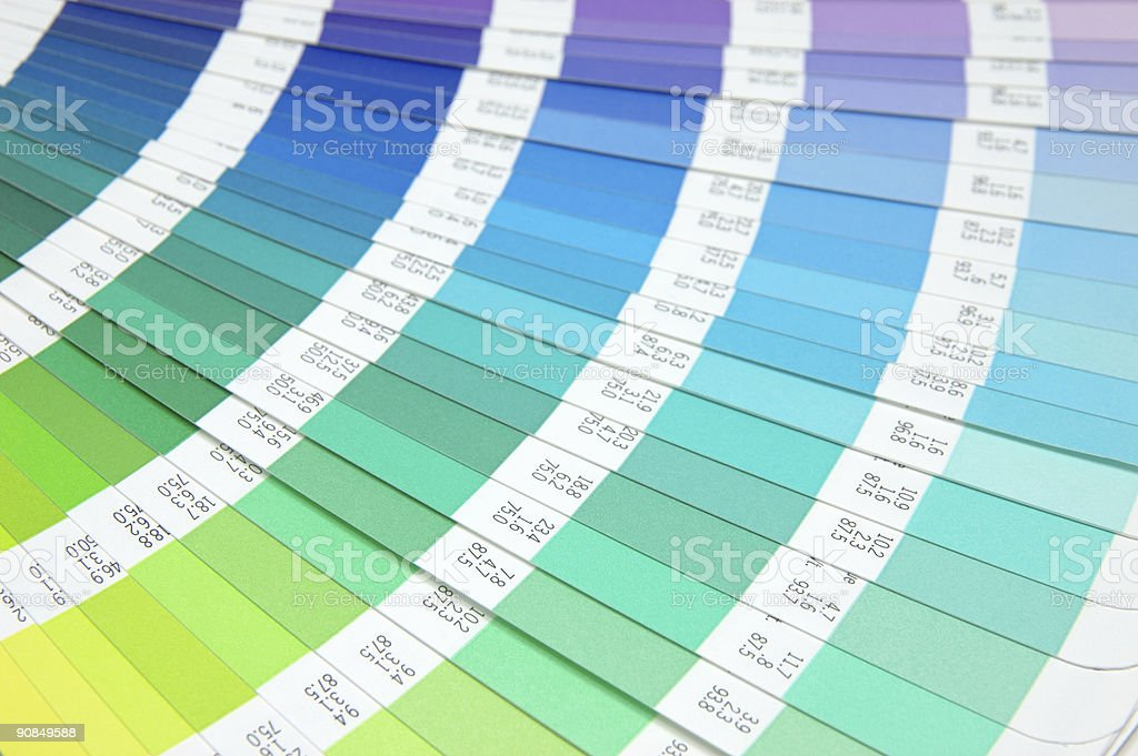 Color guide - purple to green royalty-free stock photo