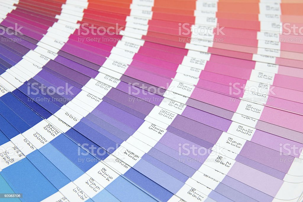 Color guide - red to blue royalty-free stock photo
