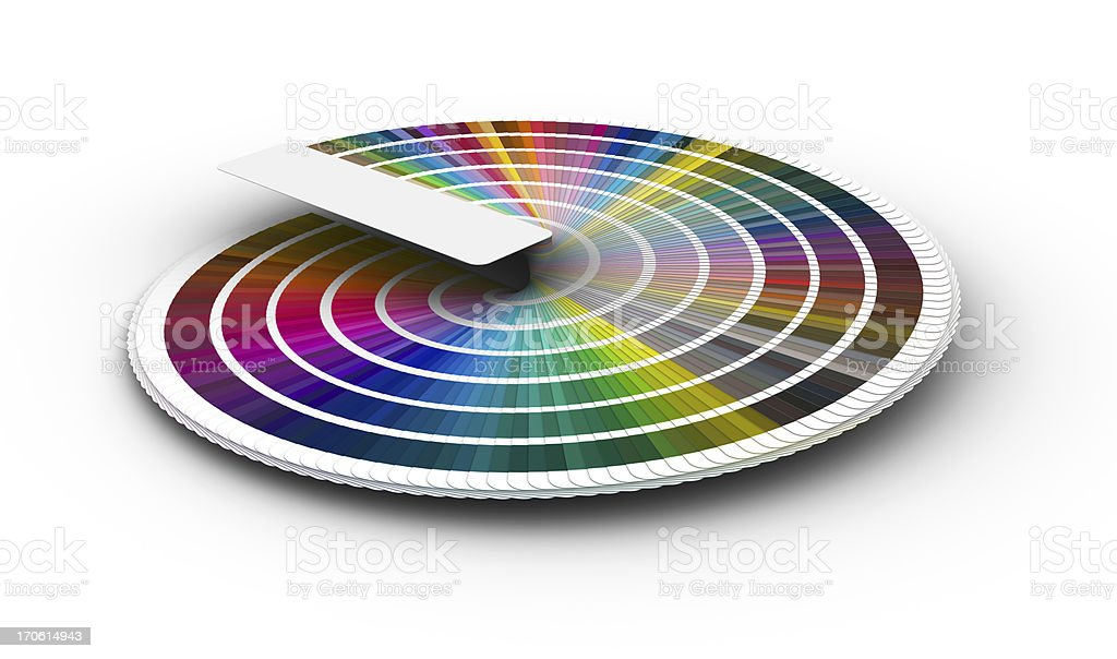 Color guide to match colors for printing (3D) royalty-free stock photo
