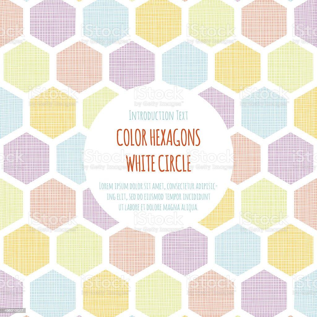 Color Hexagon White Circle royalty-free stock photo