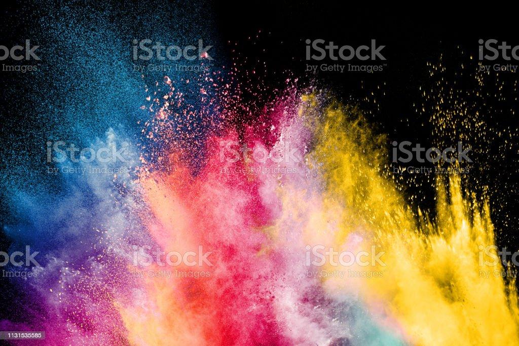 Festival de la couleur Holi. Explosion colorée pour Happy Holi en poudre. Fond d'explosion de poudre de couleur. - Photo de Abstrait libre de droits