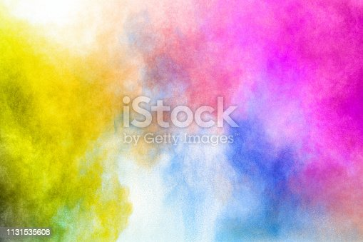 1131535585 istock photo Color Holi Festival. Colorful explosion for Happy Holi powder. Color powder explosion background. 1131535608