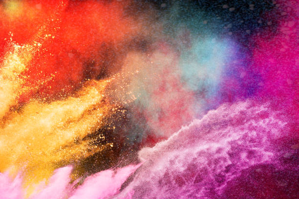 Color Holi Festival. Colorful explosion for Happy Holi powder. Color powder explosion background. Color Holi Festival. Colorful explosion for Happy Holi powder. Color powder explosion background. colored powder stock pictures, royalty-free photos & images