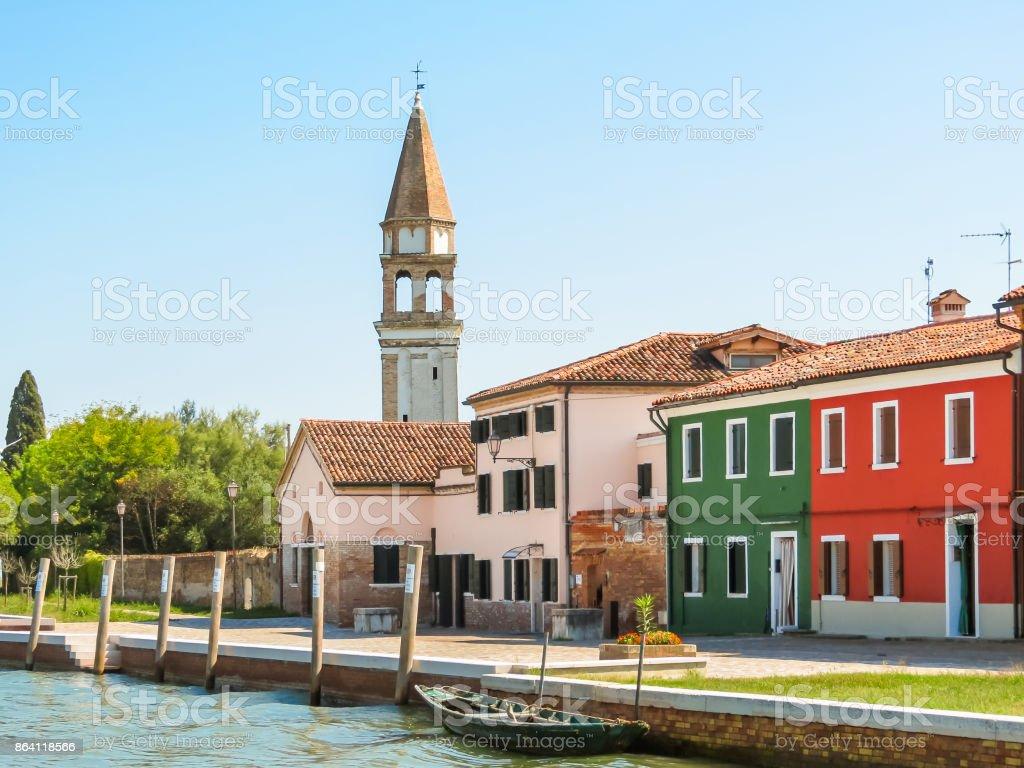 Color houses on Burano island, Venice, Italy royalty-free stock photo