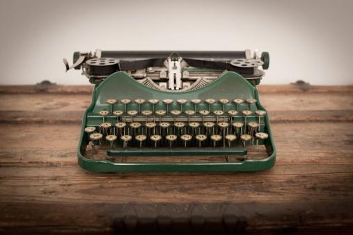 Color Image of Green, Vintage Manual Typewriter